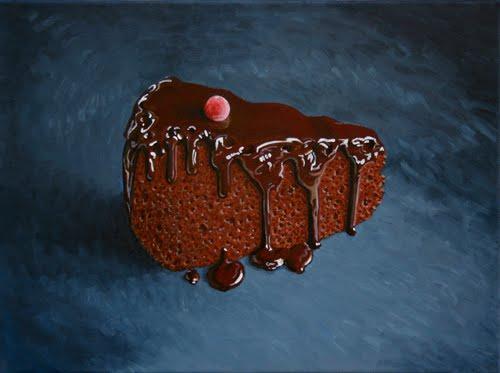 'pastís' oli sobre tela 30 x 40cm.